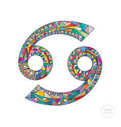Cancer zodiac sign horoscope vector