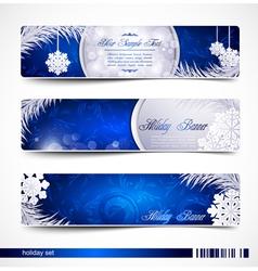 Christmas festive banners vector