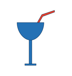 Cocktail glass cup drink beverage fresh vector