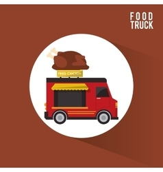 Colorful food truck design vector