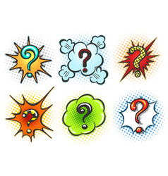 Comic question marks vector