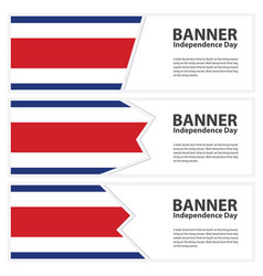 costa rica flag banners collection independence vector image