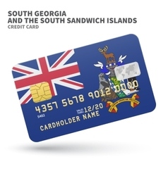 Credit card with South Georgia and Sandwich vector