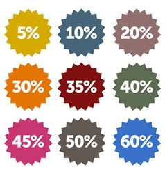 Discount Stars Set vector image