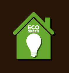 Eco green bulb light vector