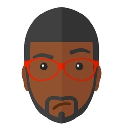 Envious man in glasses vector image