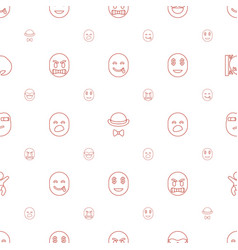 Funny icons pattern seamless white background vector