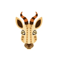 Gazelle african animals stylized geometric head vector