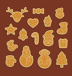 Gingerbread set vector