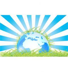 globe grass vector image
