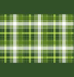 green tartan pixel check plaid seamless pattern vector image