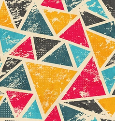 grunge colored triangle seamless pattern vector image