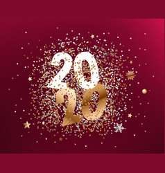 happy new 2020 year composition different vector image