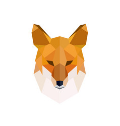 Head of a red fox modern polygonal style vector