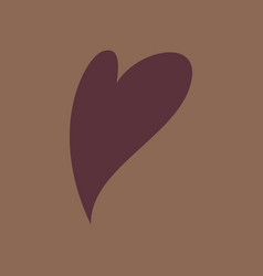Heart icon flat love symbol valentines day sign vector