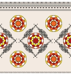 Horizontal seamless pattern with ornament vector image