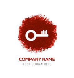 key icon - red watercolor circle splash vector image