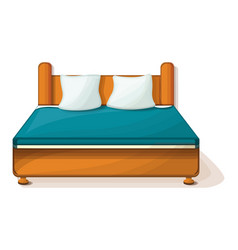 king size bed icon cartoon style vector image