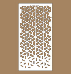 Laser cutting arabesque decorative panel vector