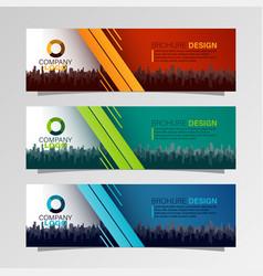 leaflets 3 fold template vector image