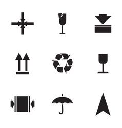 Marking cargo icons set vector