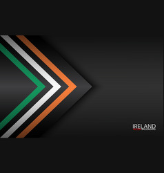 Modern colorful arrows with irish colors and grey vector