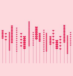 modern minimalist heart flowers vector image