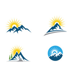 mountain logo business template vector image
