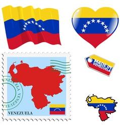 National colours of Venezuela vector