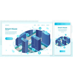 online intelligent building network web set vector image