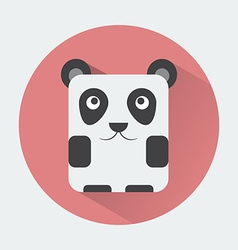 Panda Baby Animal Icon vector image