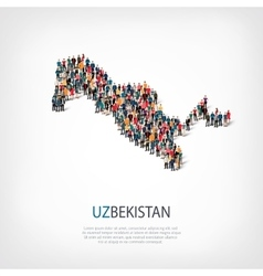 People map country Uzbekistan vector