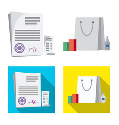 Pharmacy and hospital logo vector