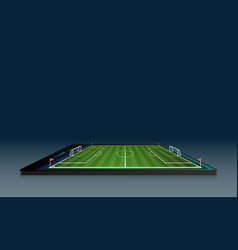 phone on football arena field with bright stadium vector image
