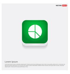pie chart green web button vector image