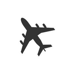 plane icon sign airplane isolated on white backgr vector image