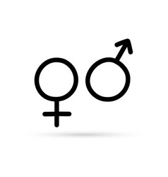 Popular drawing sexual sign symbol isolated vector