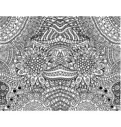 Psychedelic tribal funky symmetrical background vector