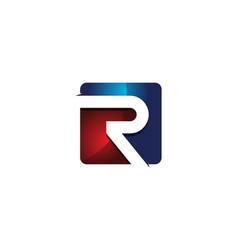 r 3d colorful square letter logo icon design vector image