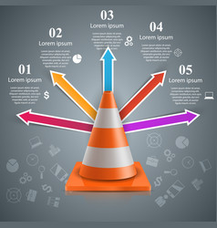 recovery and repair road business infographics vector image