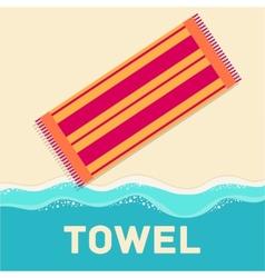 retro flat towel concept design vector image