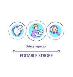 Safety inspector concept icon vector