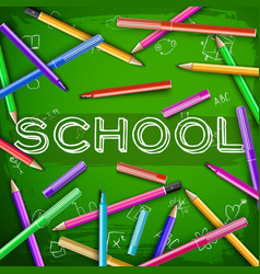 school green chalkboard vector image