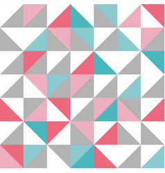 seamless triangle design pattern in blue pink vector image vector image