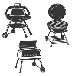 Set grills isolated on white background vector