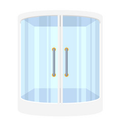 shower stall icon contemporary white bathroom vector image