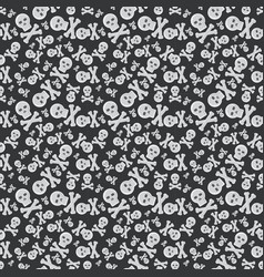 Skull face seamless pattern vector