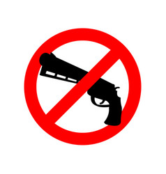 stop gun prohibited arms red circle road sign ban vector image