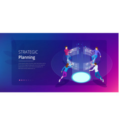 strategic business planning isometric business vector image