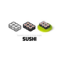 Sushi icon in different style vector